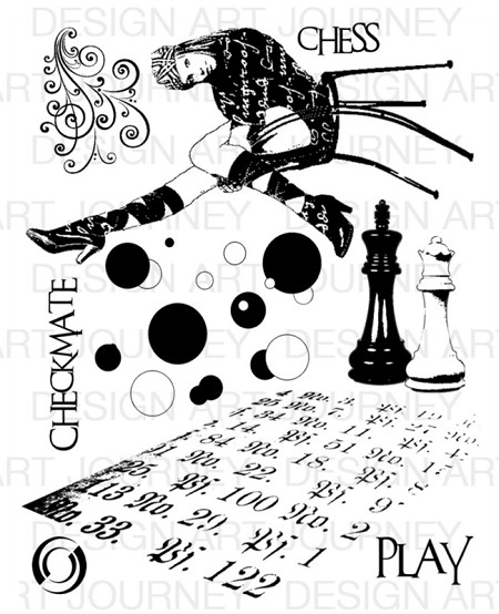 Art Journey - Unmounted Rubber Stamps - Chess