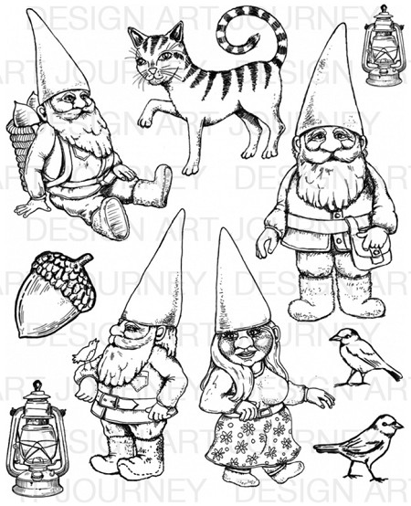 Art Journey - Unmounted Rubber Stamps - Fairy Tale People
