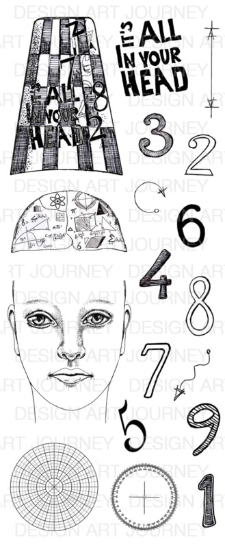 Art Journey - Unmounted Rubber Stamps - It's all in your head