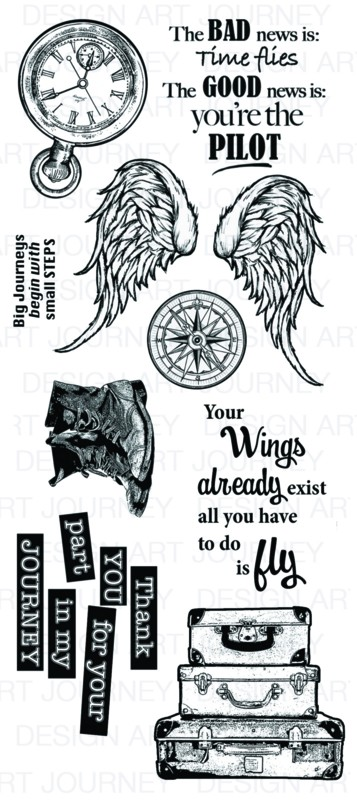Art Journey - Unmounted Rubber Stamps - Your Wings