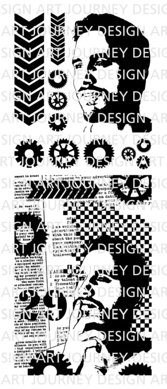 Art Journey - Unmounted Rubber Stamps - Ben