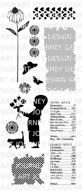 Art Journey - Unmounted Rubber Stamps - Girl and cat