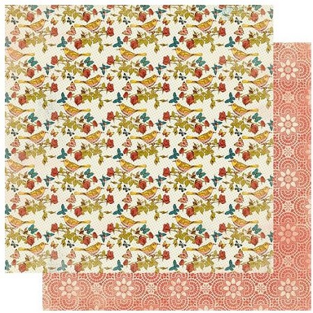 "Authentique - Endless Collection - One, Summer birds/Lace - 12""x12"" Double Sided Cardstock"