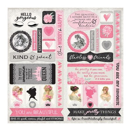 "Authentique - Flawless Collection - 12""x12"" Elements die cuts"