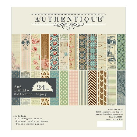 Authentique - Legacy Collection - 6x6 Paper Pad :)