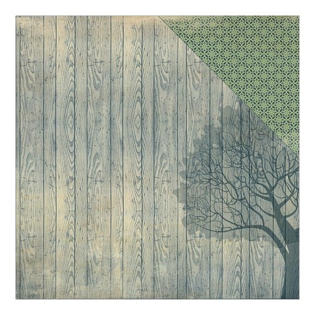 "Authentique - Legacy Collection - 12""x12"" Double Sided Cardstock - History Tree Design Woodgrain/Lace"