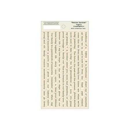 Authentique - Legacy Collection - Petite Diction sticker