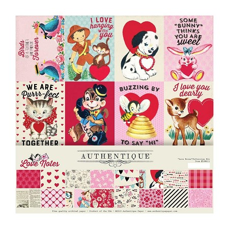 Authentique - Love Notes Collection - Collection Kit