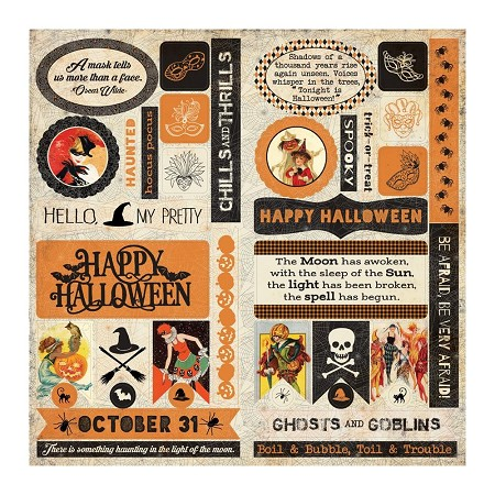 "Authentique - Masquerade Collection - 12""x12"" die-cuts elements Sheet"
