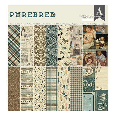 Authentique - Purebred Collection - 12x12 paper pad