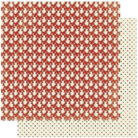 "Authentique - Rejoice Collection - Seven, Christmas polka dots/reindeer - 12""x12"" Double Sided Cardstock"