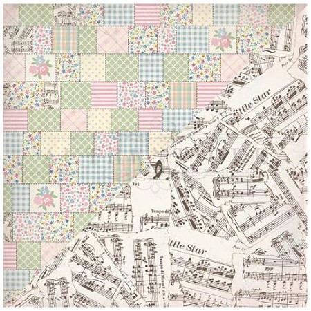 Authentique - Swaddle Girl Collection - Four, torn music/baby quilt