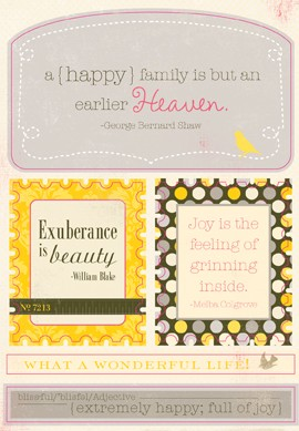 Authentique-Blissful-Die Cut Sheets-Excerpts