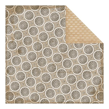 "Authentique - Durable Collection - 12""x12"" Double Sided Cardstock - Balance Wheel Pattern"
