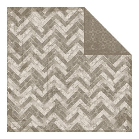 "Authentique - Durable Collection - 12""x12"" Double Sided Cardstock - Assemble Wood Plank Chevron"