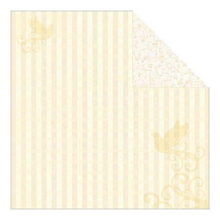 "Authentique - Faith Collection - 12""x12"" Double Sided Cardstock - Divine"