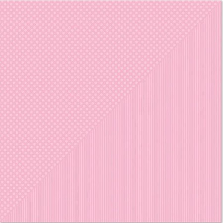 "Authentique - Spectrum Series - 12""x12"" Double Sided Cardstock - Tickled Pink Dot/Stripe"