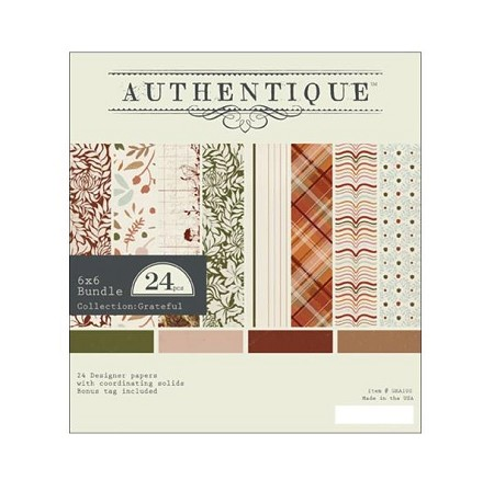 "Authentique - Grateful Collection - 6""x6"" Paper Pad  :)"