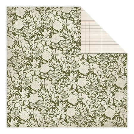 "Authentique - Grateful Collection - 12""x12"" Double Sided Cardstock - Roots"