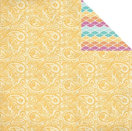 "Authentique - Radiant Collection - 12""x12"" Double Sided Cardstock - Sprightly"