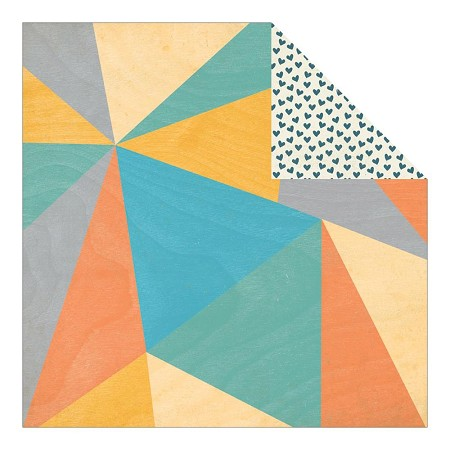 "Authentique - Playful Collection - 12""x12"" Double Sided Cardstock - Triangles"