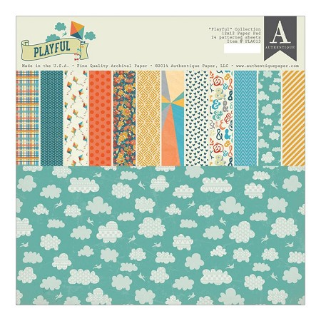 Authentique - Playful Collection - 12x12 paper pad
