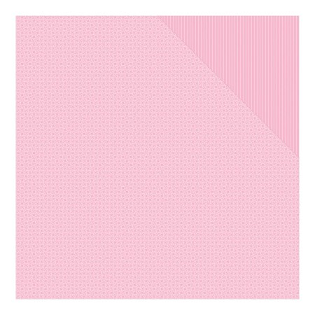 "Authentique - Spectrum Series - 12""x12"" Double Sided Cardstock - Tickled Pink Pinwheel/Stripe"