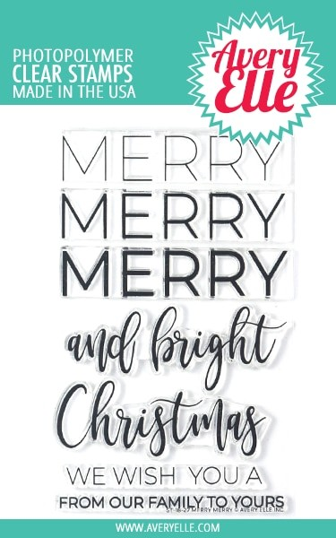 Avery Elle - Clear Stamps - Merry Merry