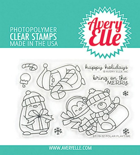 Avery Elle - Clear Stamps - Polar Playtime