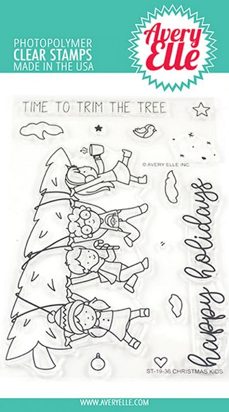 Avery Elle - Clear Stamps - Christmas Kids