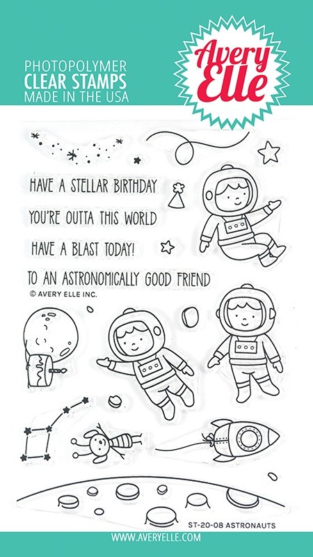 Avery Elle - Clear Stamps - Astronauts