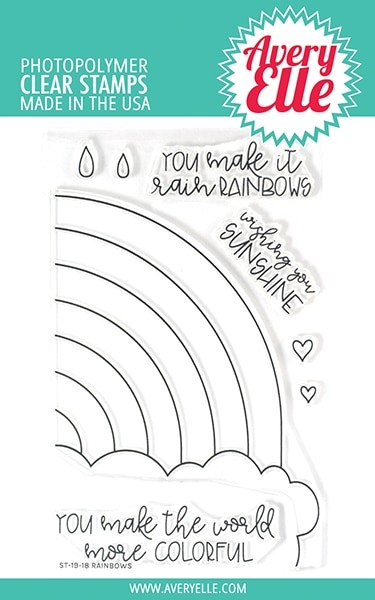 Avery Elle - Clear Stamps - Rainbows