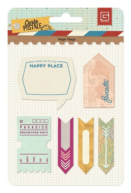 Basic Grey - Carte Postale Collection - Page Flags