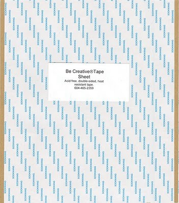 "Be Creative Tape Sheets - (5 sheets 8""x10"")"