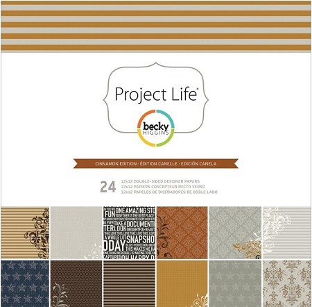 "Becky Higgins - Project Life  - 12""x12"" Paper Collection Pack - Cinnamon Edition"
