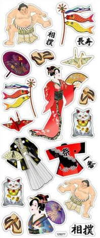 Best Creation - Oriental Themed Stickers - Sumo