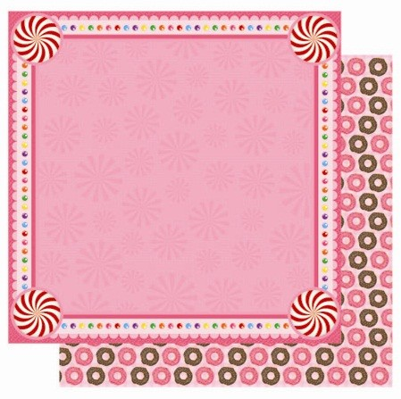 "Best Creation - Candy Shop Collection - 12""x12"" Glitter Cardstock - Lollipop Fun"