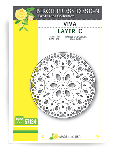 Birch Press - Cutting Die - Viva Layer C