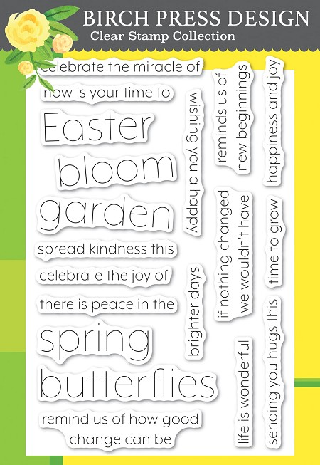 Birch Press - Clear Stamp - Blooming Spring