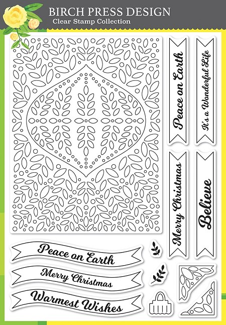 Birch Press - Clear Stamp - Christmas Ornament and Labels