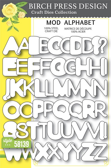 Birch Press - Cutting Die - Mod Alphabet die set