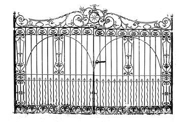 B-Line Designs - Cling Stamp - Manor Gate