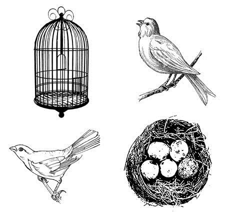 B-Line Designs - Cling Stamp - Nest Cube (set of 4 stamps)