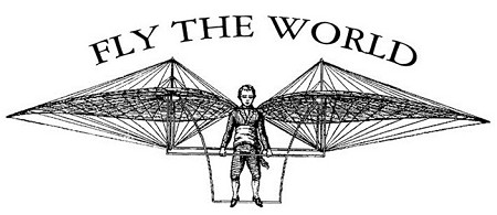 B-Line Designs - Cling Stamp - Fly The World