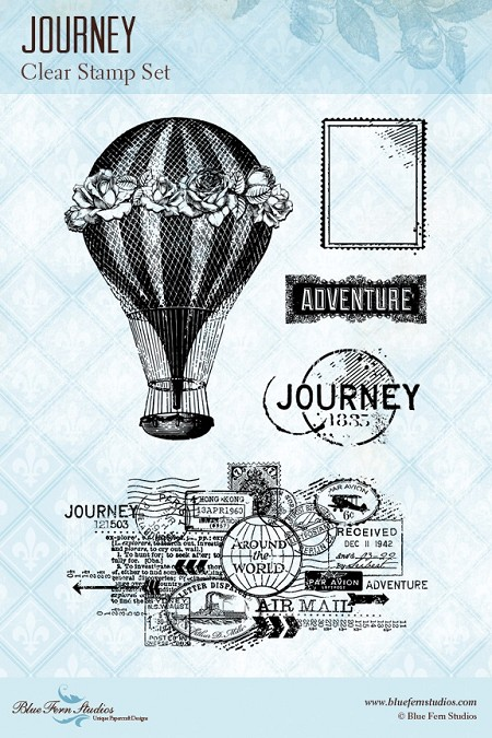 Blue Fern Studios - Clear Stamp - Journey