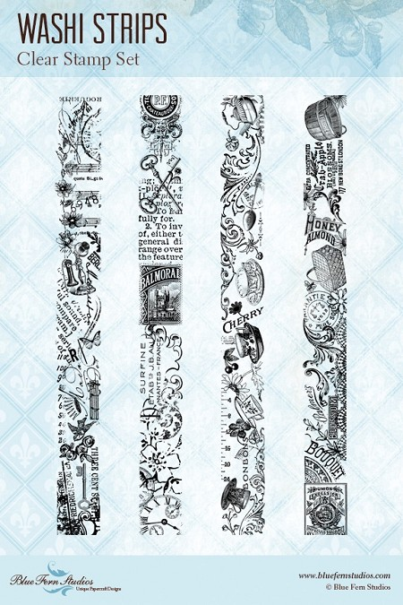 Blue Fern Studios - Clear Stamp - Washi Strips