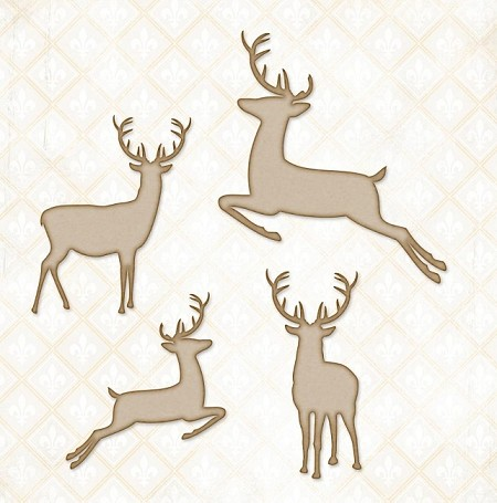 Blue Fern Studios - Chipboard - Winter Deer