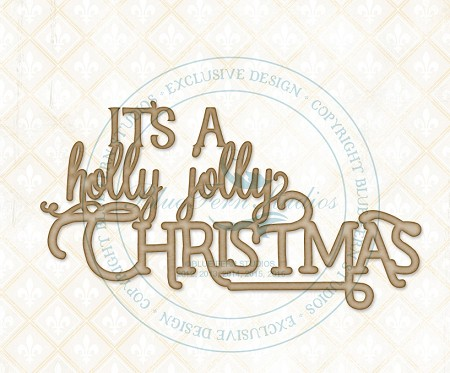 Blue Fern Studios - Chipboard - Holly Jolly Christmas