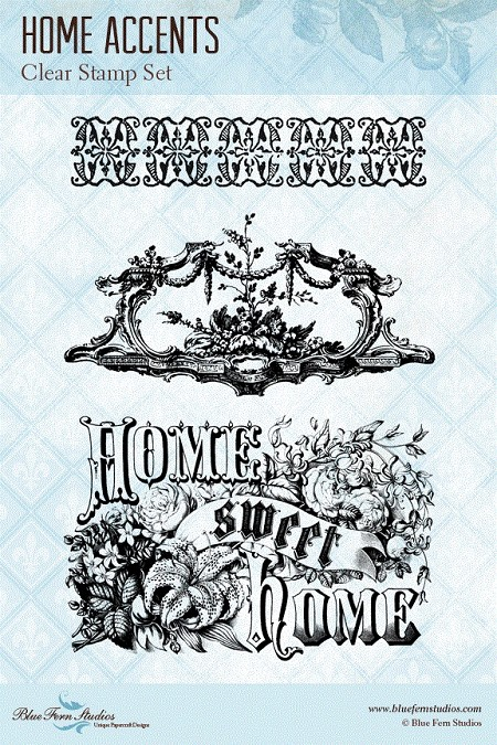 Blue Fern Studios - Clear Stamp - Home Accents