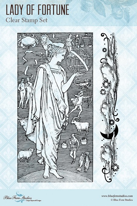 Blue Fern Studios - Lady of Fortune Clear Stamp